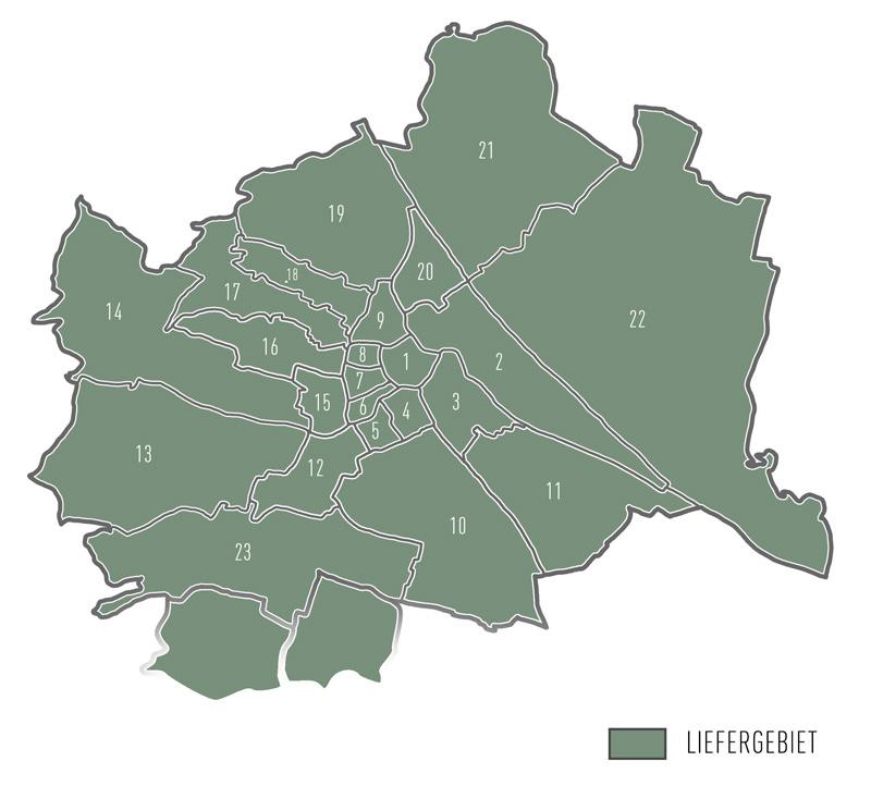 Liefergebiet Wien - Christbaum Service®